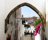 Typische straat van Ãvora III royalty-vrije stock foto's