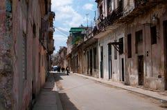 Typische straat van Havana Stock Afbeelding