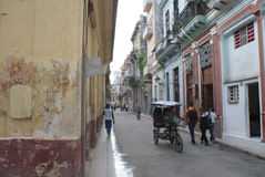 Typische straatmening in Havana Royalty-vrije Stock Foto