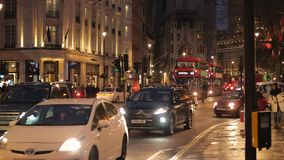 Typische straatmening in Londen stock videobeelden