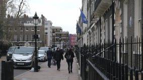 Typische straatmening in Londen stock footage
