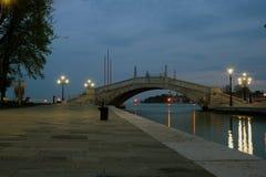 Typische Szene der Venedig-Stadt in Italien. Lizenzfreie Stockfotografie