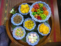 Typische thailändische Bonbons-khanom kuan Stockfoto