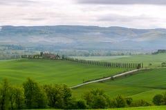 Typische Toscaanse mooie mening Stock Afbeeldingen