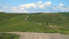 Typische toskanische Landschaft stock video footage