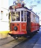 Typische tram van Istanboel, Turkije stock foto