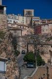 Typische Treppenhausstraßen und Gebäude der berühmten Stadt des Stichworts lizenzfreies stockbild