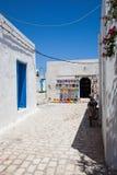 Typische Tunesische aardewerkwinkel - Tunesië Stock Fotografie