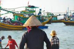 Typische vietnamesische Frauen Stockbilder