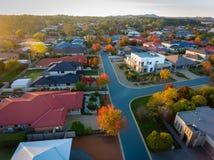 Typische voorstad in Australië Stock Foto's