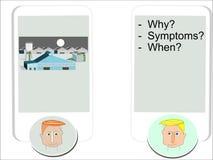 Typische vragen voor erkenning van een probleem royalty-vrije illustratie
