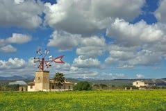 Typische windmolen in Majorca Stock Afbeeldingen