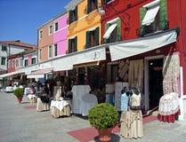 Typische Winkel in Burano Royalty-vrije Stock Foto