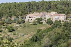 Typische woonhuizen in het Ardeche-district, Frankrijk Stock Foto's