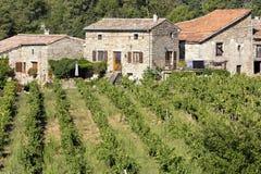 Typische woonhuizen in het Ardeche-district, Frankrijk Stock Foto