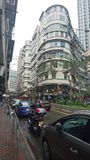 Typischer alter Hong Kong Building lizenzfreie stockbilder