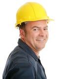 Typischer Bauarbeiter stockfotos