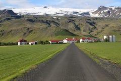 Typischer Bauernhof in Island Stockfotos