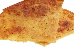 Typischer gesalzener Kuchen gemacht mit Kichererbsenmehl lizenzfreie stockbilder