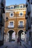 Typischer Hausbau in der alten Stadt der Stadt von Cuenc Lizenzfreie Stockfotos