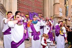 Typischer Karnevalschor (chirigota) in Cadiz lizenzfreies stockfoto