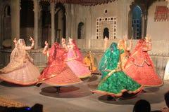 Typischer Tanz in Indien Stockbild