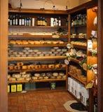 Typischer toskanischer Produktspeicher Stockbild