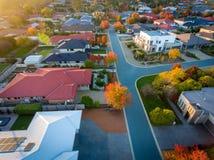 Typischer Vorort in Australien Stockfoto