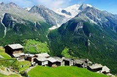 Typisches altes Dorf, die Schweiz Lizenzfreie Stockfotos