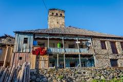 Typisches altes Svanetian-Haus, Adishi Stockbilder