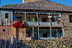 Typisches altes Svanetian-Haus, Adishi Stockfotos