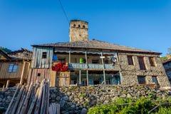 Typisches altes Svanetian-Haus, Adishi Lizenzfreie Stockfotos