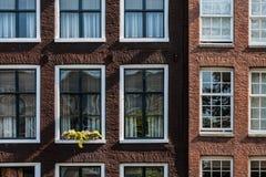 Typisches Amsterdam-Haus Stockfotos
