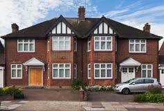 Typisches britisches Ziegelstein-Haus London England Stockfotografie