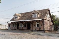 Typisches deutsches Half-Timbered historisches Haus stockbild