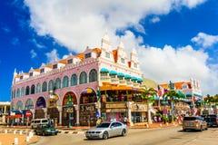 Typisches Gebäude in Aruba, Orangestad Lizenzfreie Stockfotos