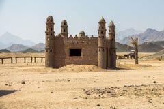 Typisches Gebäude im beduinischen Dorf Ägypten, nahe Hurghada Stockbilder
