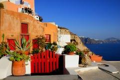 Typisches Haus bei Santorini Griechenland, die Kykladen stockfotos