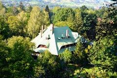 Typisches Haus in Dorf Kleie, Haus von Dracula, Brasov, Siebenbürgen Lizenzfreies Stockfoto