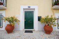 Typisches Haus in Lissabon stockbilder