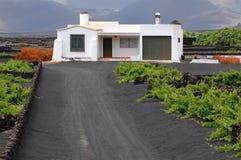Typisches Haus von Lanzarote stockfotos