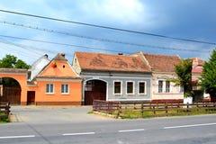 Typisches Haus in Vulcan, Siebenbürgen Lizenzfreies Stockbild