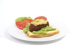 Typisches holländisches Mittagessen mit Brot und kroket Lizenzfreie Stockfotografie