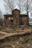 Typisches Holzhaus in Tallinn Lizenzfreies Stockfoto