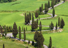 Typisches italienisches countryroad in Toskana Stockfoto