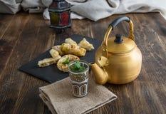 Typisches marokkanisches und arabisches Lebensmittel Stockfotografie