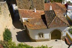 Typisches mittelalterliches Haus stockbild