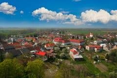 Typisches mitteleuropäisches Dorf Lizenzfreie Stockfotos