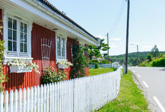 Typisches norwegisches Haus Lizenzfreie Stockfotos