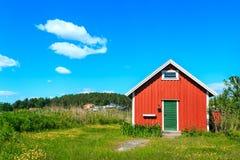Typisches norwegisches Haus Stockfoto